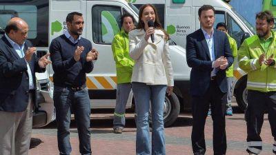 Inesperado cruce de un intendente ultra kirchnerista con María Eugenia Vidal, en la puesta en marcha del SAME