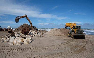 Por las extracciones de arena en playas del norte, piden explicaciones a Provincia y al Municipio
