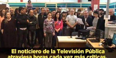 Trabajadores de TV Pública denunciaron la cobertura sesgada de la represión