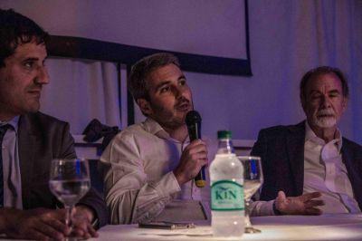 Con Diez, González Fraga disertó ante empresarios y productores