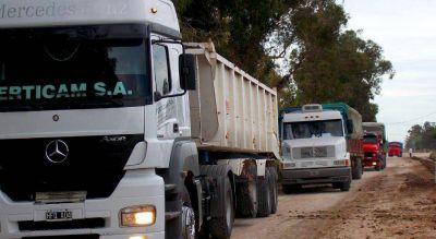 Transportistas bloquearán las playas de camiones en Quequén este jueves 1-11