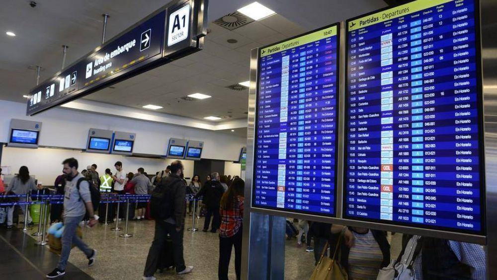 Demoras y cancelaciones de vuelos en Aeroparque por una medida gremial