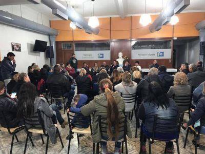 Reunión del Partido Fe con participaron de militantes del distrito