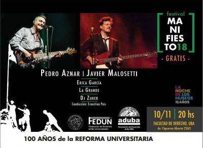 """FEDUN organizó el festival """"Maniesto18"""" para celebrar los 100 años de la reformar universitaria"""