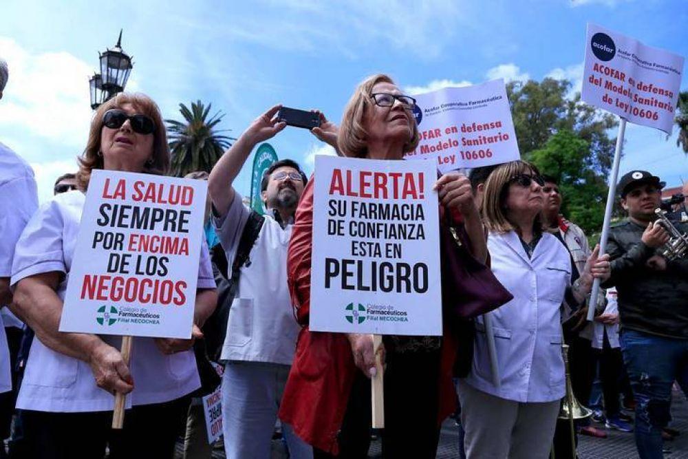 Los boticarios se manifestaron contra Farmacity: