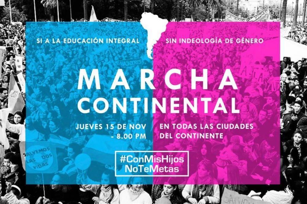"""Marcha continental """"Con Mis Hijos No Te Metas"""""""