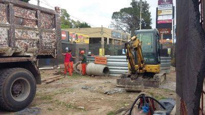 AySA avanza con obras en el centro de Canning