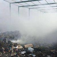 Denuncian incendio intencional en la planta GIRSU de Rawson