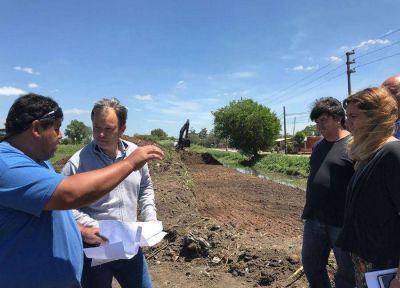 Almirante Brown: el Municipio avanza con importantes obras hidráulicas y limpieza de arroyos y bocas de tormenta