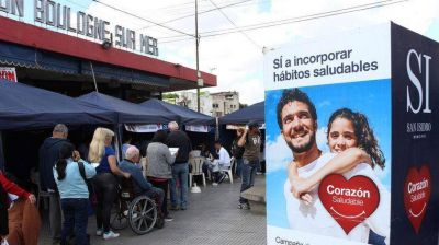 En San Isidro lanzaron una campaña para prevenir enfermedades cardiovasculares