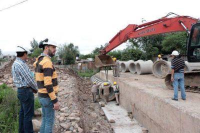 Palpalá: comenzaron las obras hídricas en B° Antártida Argentina