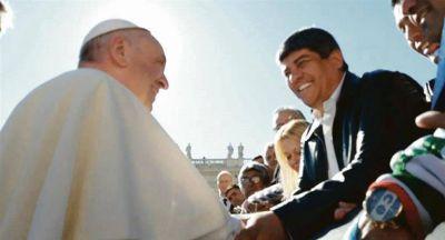 Moyano prepara visita y acto con el Papa en marzo
