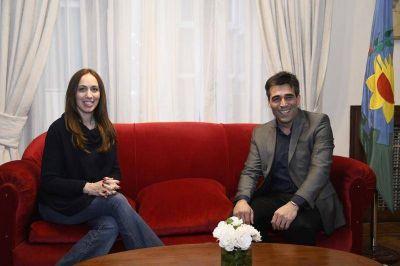 López recibió a la gobernadora Vidal y dialogaron a solas sobre temas vinculados al Distrito