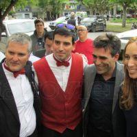 Video: Casineros entregaron un petitorio a Vidal en la puerta de la Muni