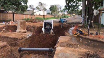 Obras en Posadas: Vialidad Provincial construye desagües pluviales subterráneos en avenida Aguado