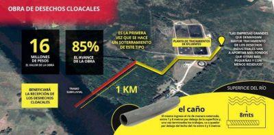 DESECHOS INDUSTRIALES: La obra que garantizará el volcado al río tiene un 85 % de avance