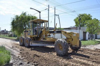 Realizan arreglo de calles en Barrio Campana