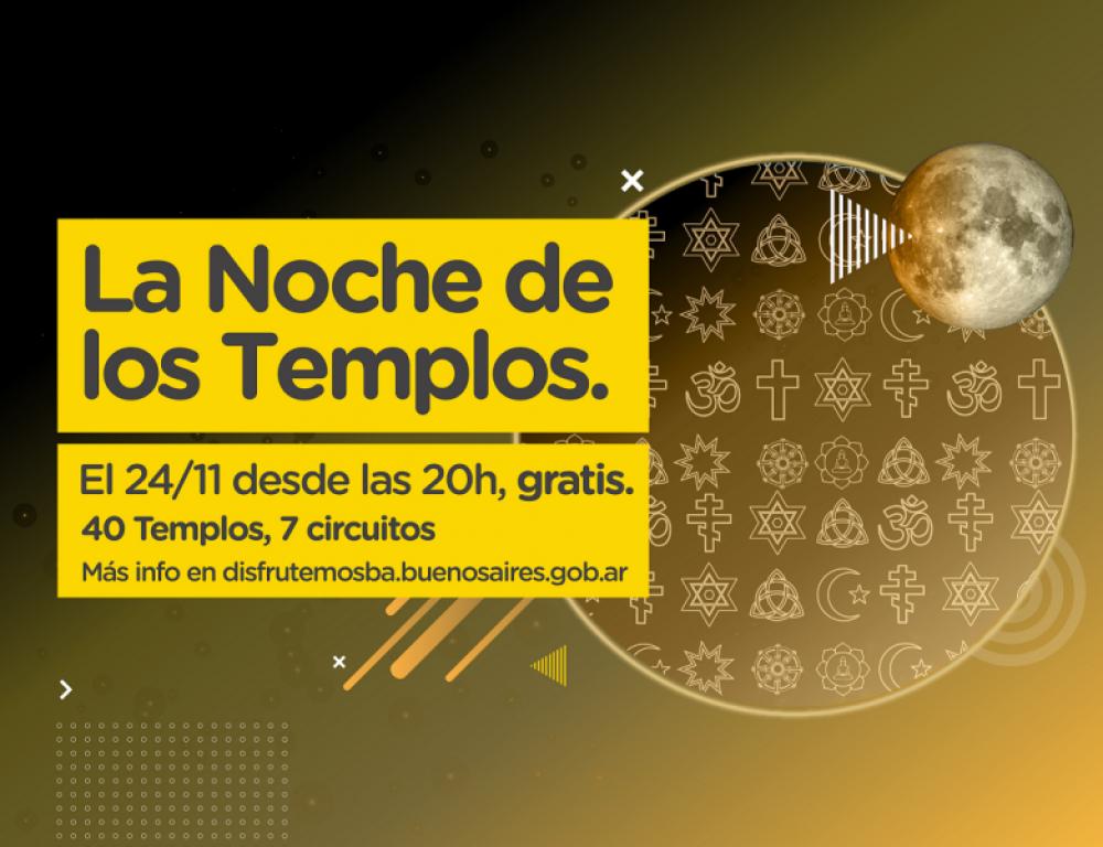 Convocan a la tercera edición de La Noche de los Templos