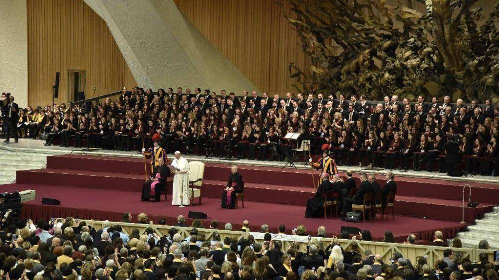 El Papa: que el coro anime el canto de toda la asamblea