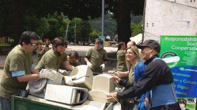 San Martín junta la basura electrónica a cambio de plantas