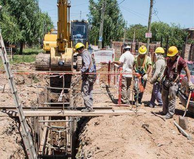 AYSA avanza con la construcción de colector cloacal en Alte. Brown y Esteban Echeverría