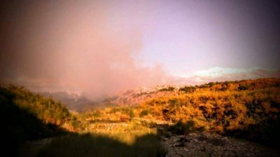 Una vez más el basural municipal está incendiado