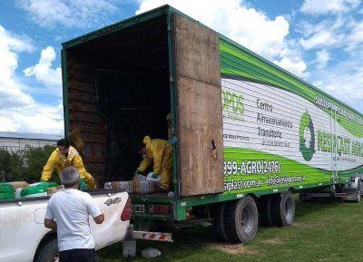 Con 3 mil envases vacíos de agroquímicos, cerró la segunda campaña de recolección