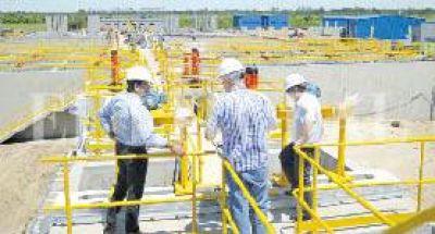 Acueducto Reconquista: continúan los trabajos de la planta potabilizadora
