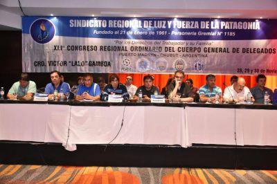 Trabajadores de Luz y Fuerza de la Patagonia celebraron Congreso con críticas al cobro de servicios