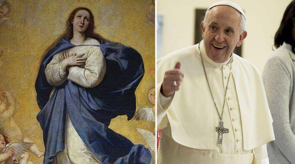 Papa Francisco a matrimonios: Confíen y aprendan de la Inmaculada Virgen María