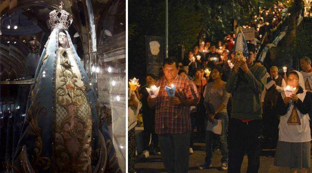 Cientos de argentinos saludan a Nuestra Señora del Valle durante su novenario