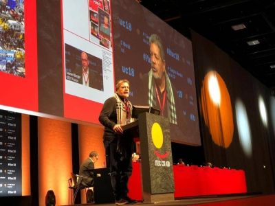 Gerardo Martínez presidió la delegación de la CGT en el 4° Congreso Mundial de la CSI