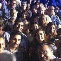 Facundo Lopez y comitiva local en el Congreso Nacional del Frente Renovador