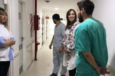 Vidal visitó sorpresivamente el hospital de Bahía Blanca y seguirá con su recorrida por el interior