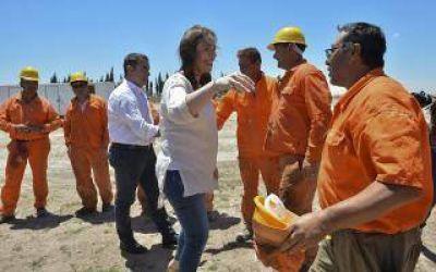 Vidal se mostró confiada en que conseguirá la actualización del Fondo del Conurbano, durante visita a Pigüé