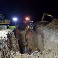 La Provincia avanza con una obra que será bisagra en el sistema hidráulico de la capital