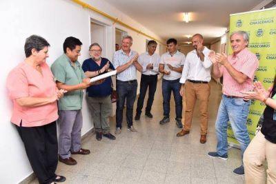 """Javier Gastón: """"recuperamos un espacio que nos será de gran utilidad mientras se construye la sala de pediatría"""