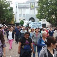 Sin incidentes: Municipales marcharon al Palacio Municipal en reclamo de los pagos atrasados