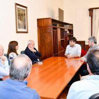 El intendente López recibió a las nuevas autoridades del Club Rivadavia