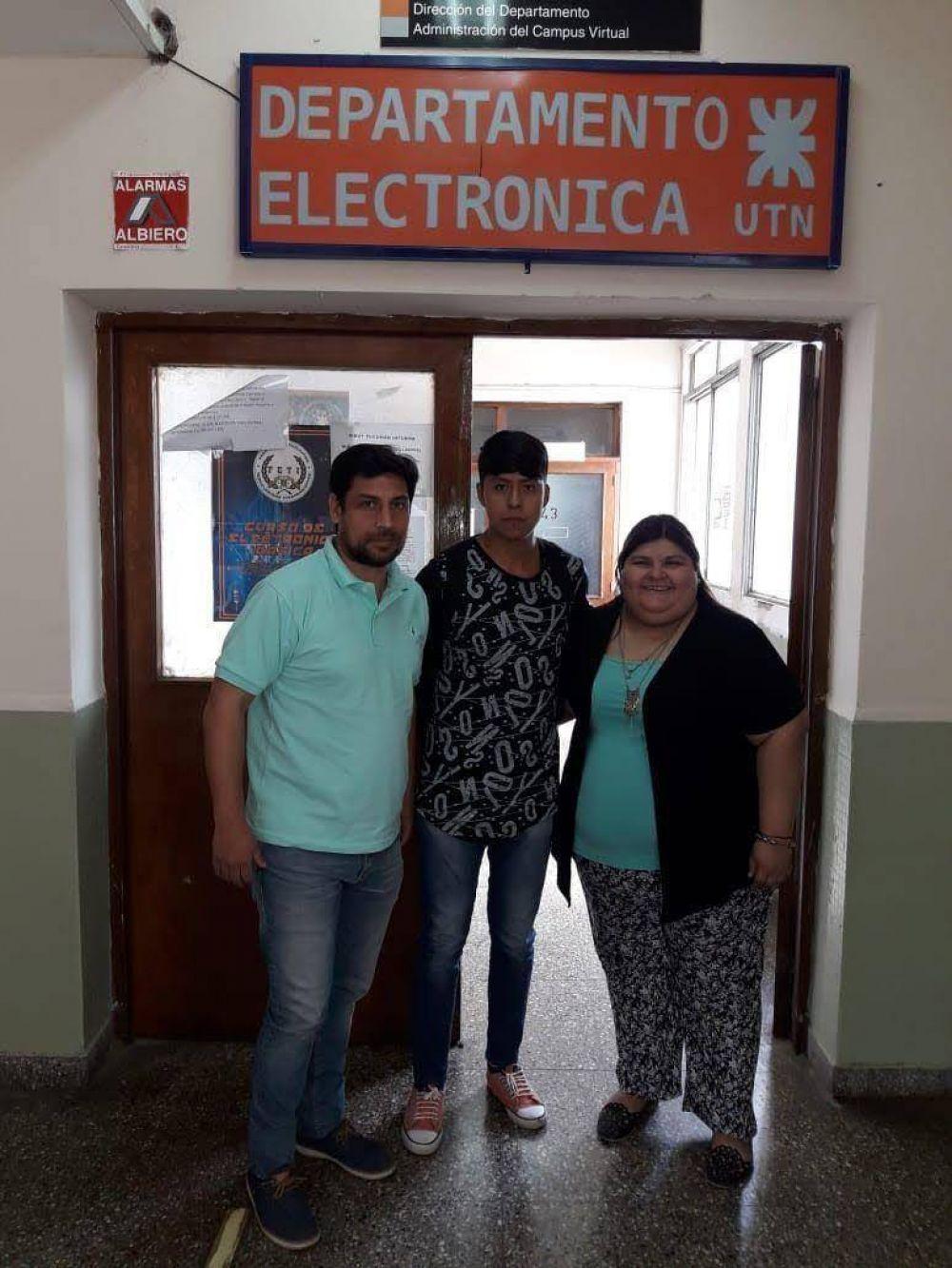 Leonel Hualampa podrá cursar Ingeniería Electrónica