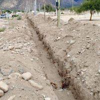 En Cafayate se construye una nueva red de agua potable