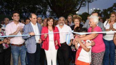 La intendente Fuentes habilitó nuevo espacio verde para la ciudad