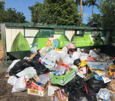 El Municipio de San Juan monitorea incidente con basura en el Parque Central