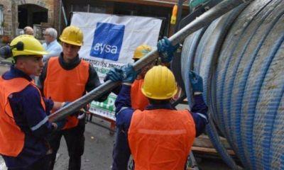 AySA informó tareas de mantenimiento de la red de agua en una zona de Del Viso