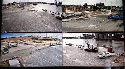 Puerto Quequén duplicará el número de cámaras de seguridad que tiene instaladas