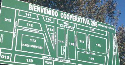 Comenzaron las obras de la red de cloacas en el barrio Cooperativa 258