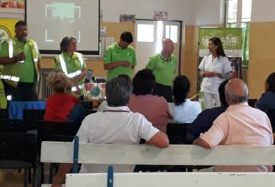 El SAME capacitó a personal del Hospital Municipal Anita Elicagary
