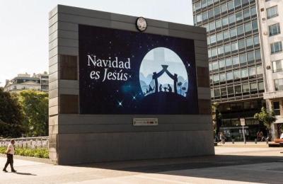 """""""Navidad es Jesús"""", la frase que inunda las calles de Buenos Aires"""