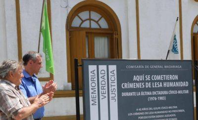 Señalizaron la Comisaría de Madariaga como Centro Clandestino de la última dictadura militar