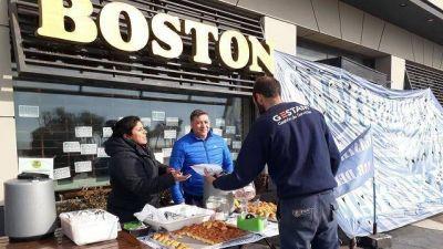 Empleados de la Boston resistirán el desalojo de una de las sucursales